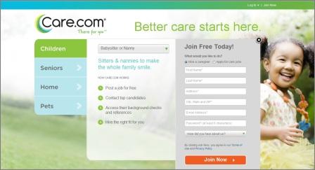 register to care.com