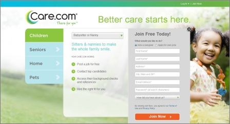 register to care.com